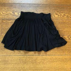 Nordstrom Lush Black Pocket Skater Skirt S